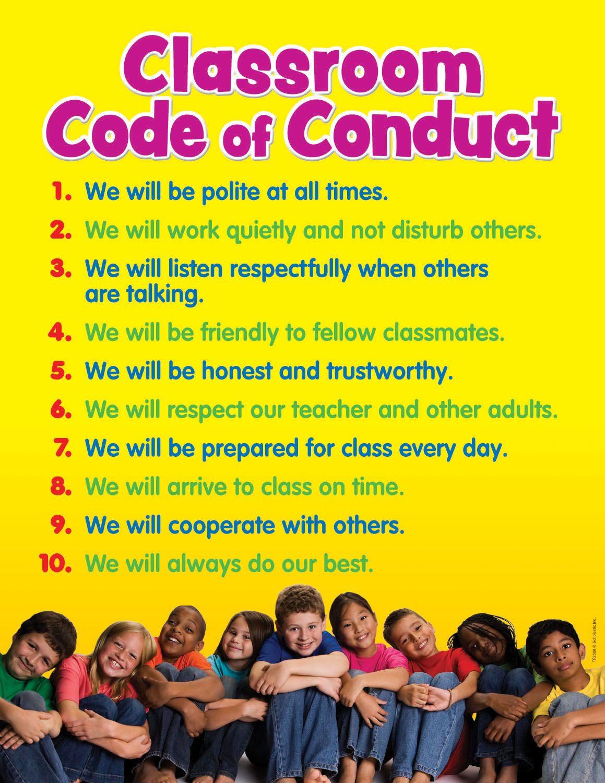 Classroom code of conduct chart classroom coding