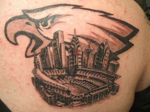 philadelphia eagles tattoo football fan tattoos pinterest eagle tattoos philadelphia. Black Bedroom Furniture Sets. Home Design Ideas