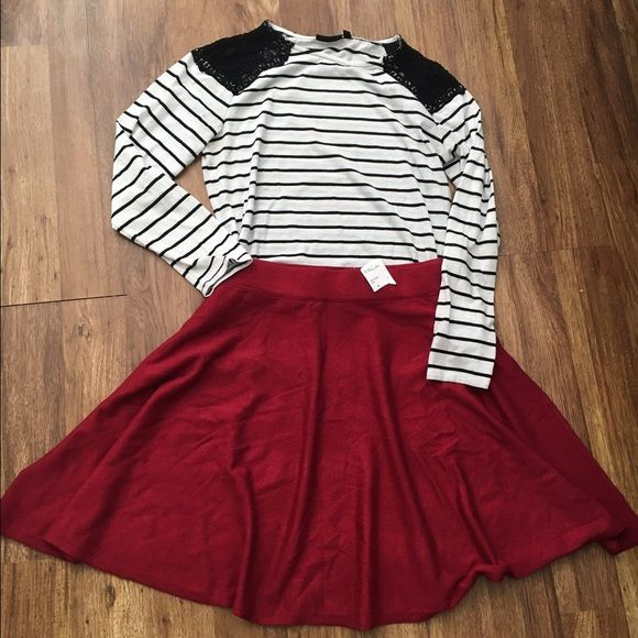 Crimson red circle skirt NWT | Circle skirts, Sweater skirt and ...