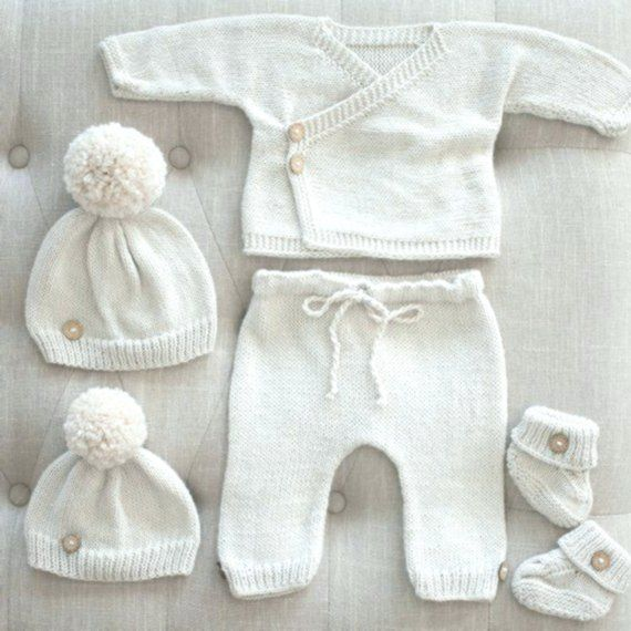 Newborn Boy Coming Home Outfit Gender Neutral Newborn Knit Outfits Baby Kimono Set Bab Newborn Hospital Outfits Coming Home Outfit Boy Baby Hospital Outfit