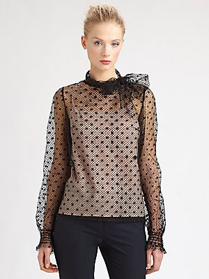 7600b3a8fb7038 RED Valentino Tulle Polka-Dot Blouse | Chic and Lovin It | Polka dot ...