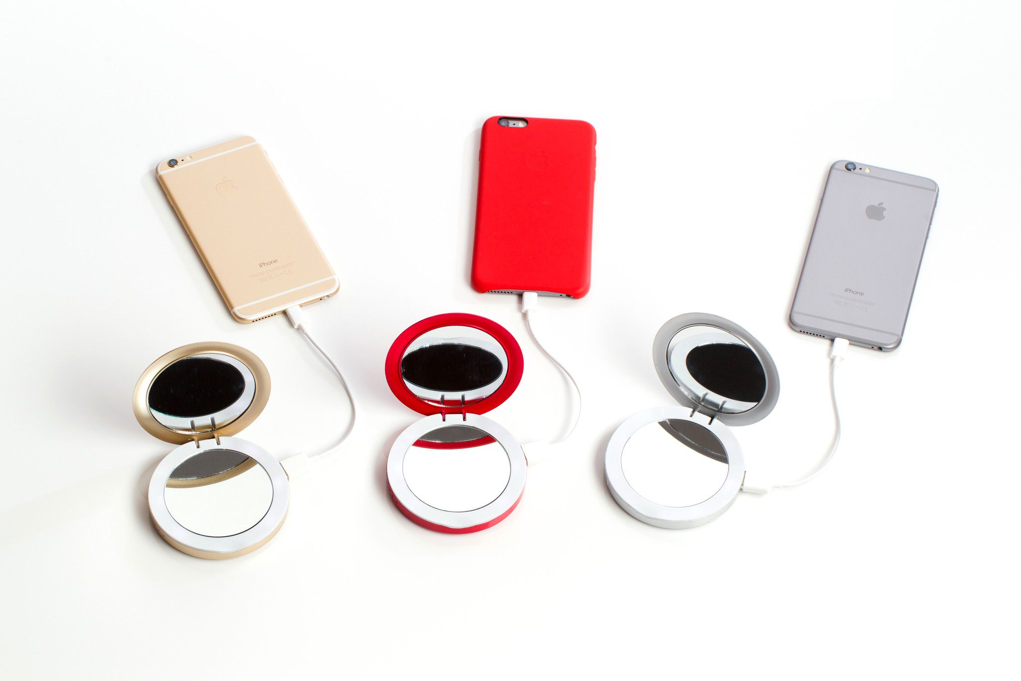 Pearl 3000mah Led Ring Compact Mirror Amp Usb Battery G