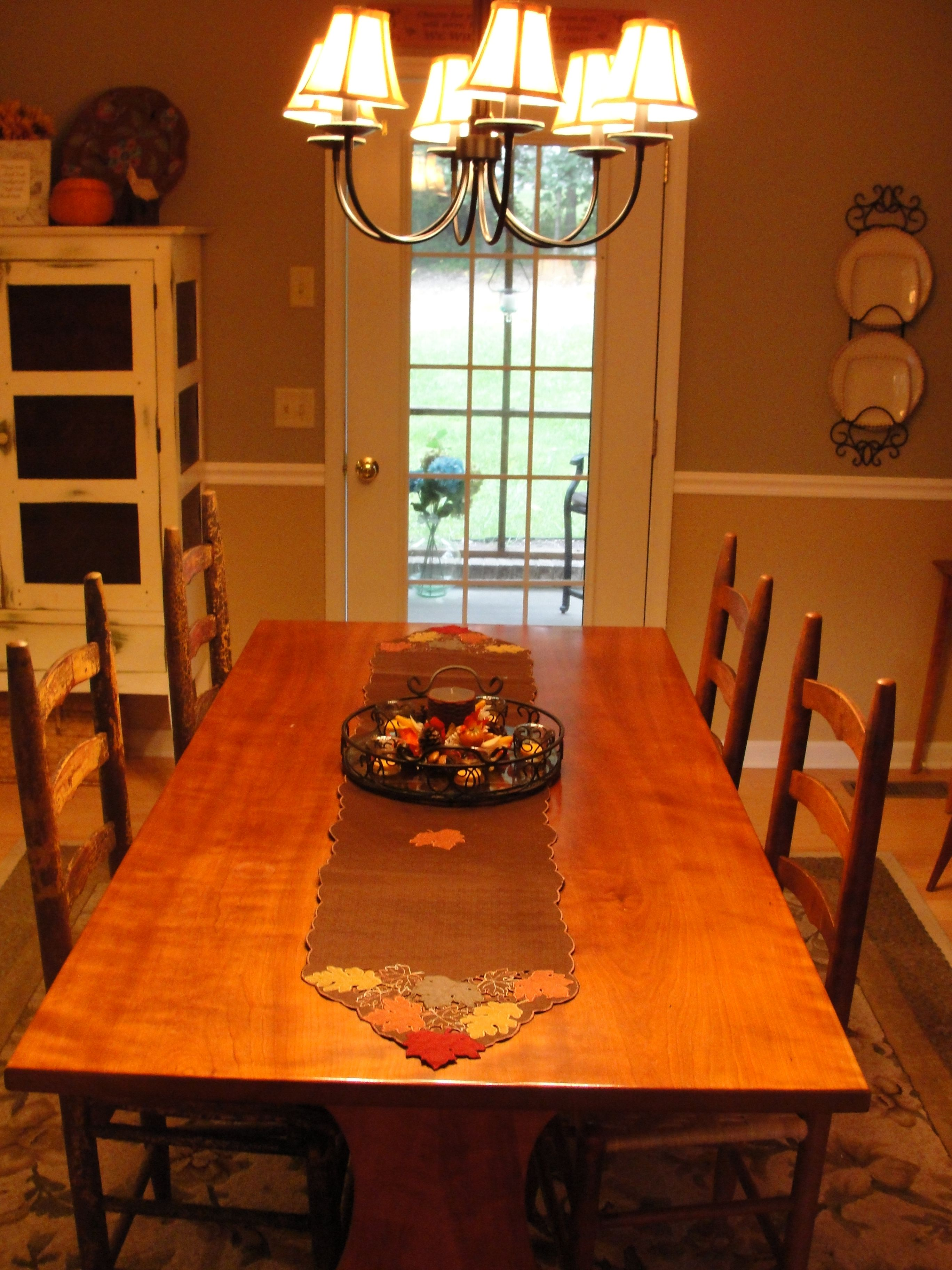 Dining Room Decorated Very Simply For Fallwillow House Adorable Willow Dining Room Menu Decorating Design