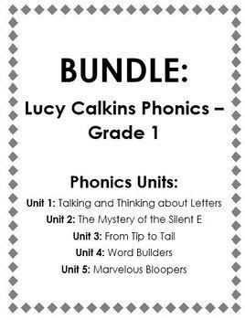 BUNDLE: Lucy Calkins 1st Grade Phonics Workshop (5 Units