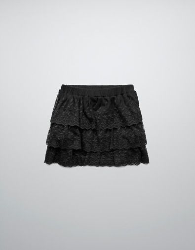 FLOUNCED SKIRT WITH EMBROIDERY - Skirts and shorts - Girl (2-14 years) - Kids - ZARA