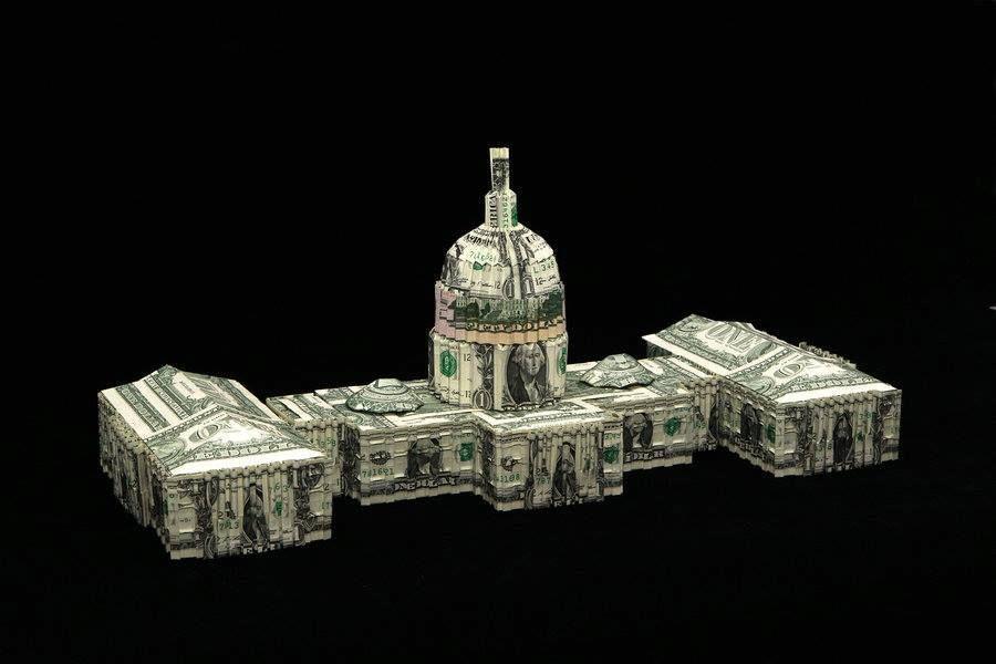 won park plie des dollars sculpture origami billet de. Black Bedroom Furniture Sets. Home Design Ideas