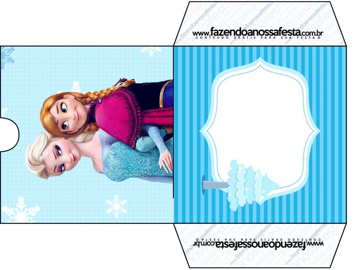 Envelope CD DVD Frozen Azul