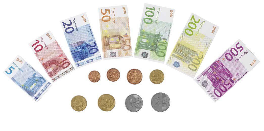 Euro Play Money Bank Notes Coins 116 Pieces Amazoncouk