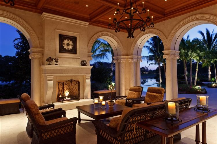 beautiful arches create a dramatic surround for this space