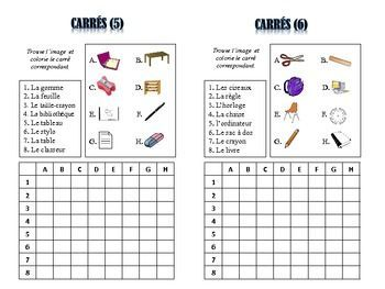 French Class Object Vocabulary Puzzles; Lots of Uses and