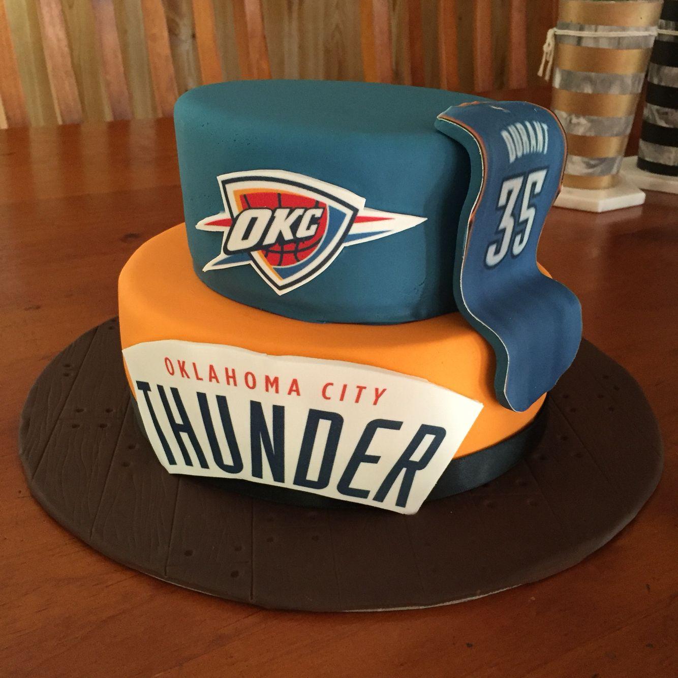 Peachy Oklahoma City Thunder Nba Kevin Durant Birthday Cake Chocolate Funny Birthday Cards Online Inifofree Goldxyz