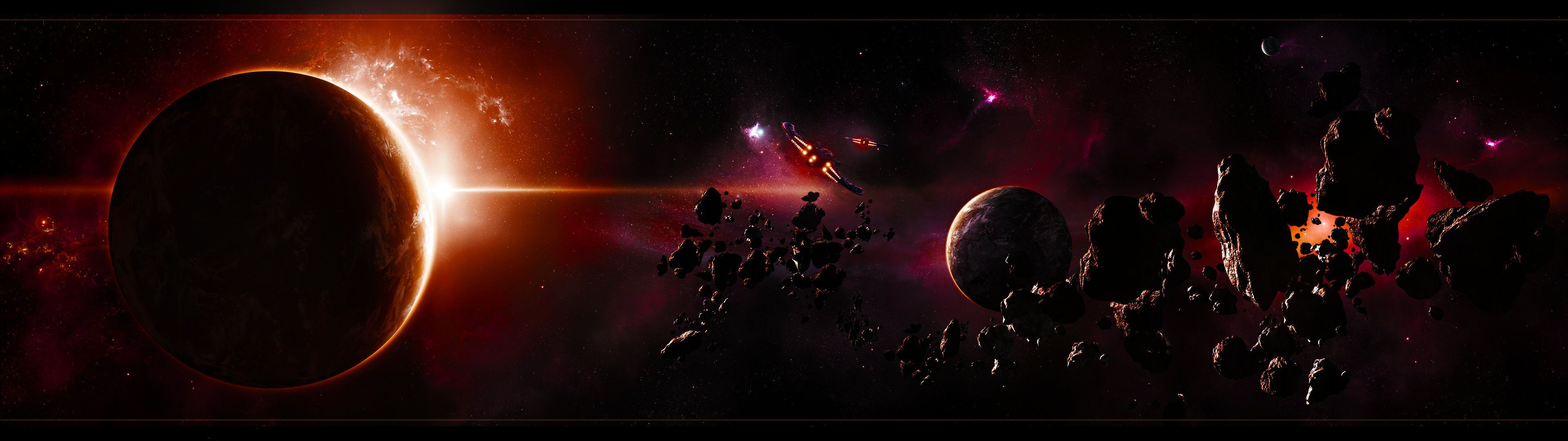 3840x1080 Wallpaper Space Wallpapersafari 3840x1080 Wallpaper Wallpaper Space Planets Wallpaper