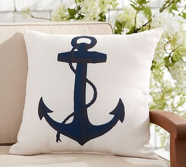Outdoor Anchor Icon Pillow #potterybarn Awesome Ideas