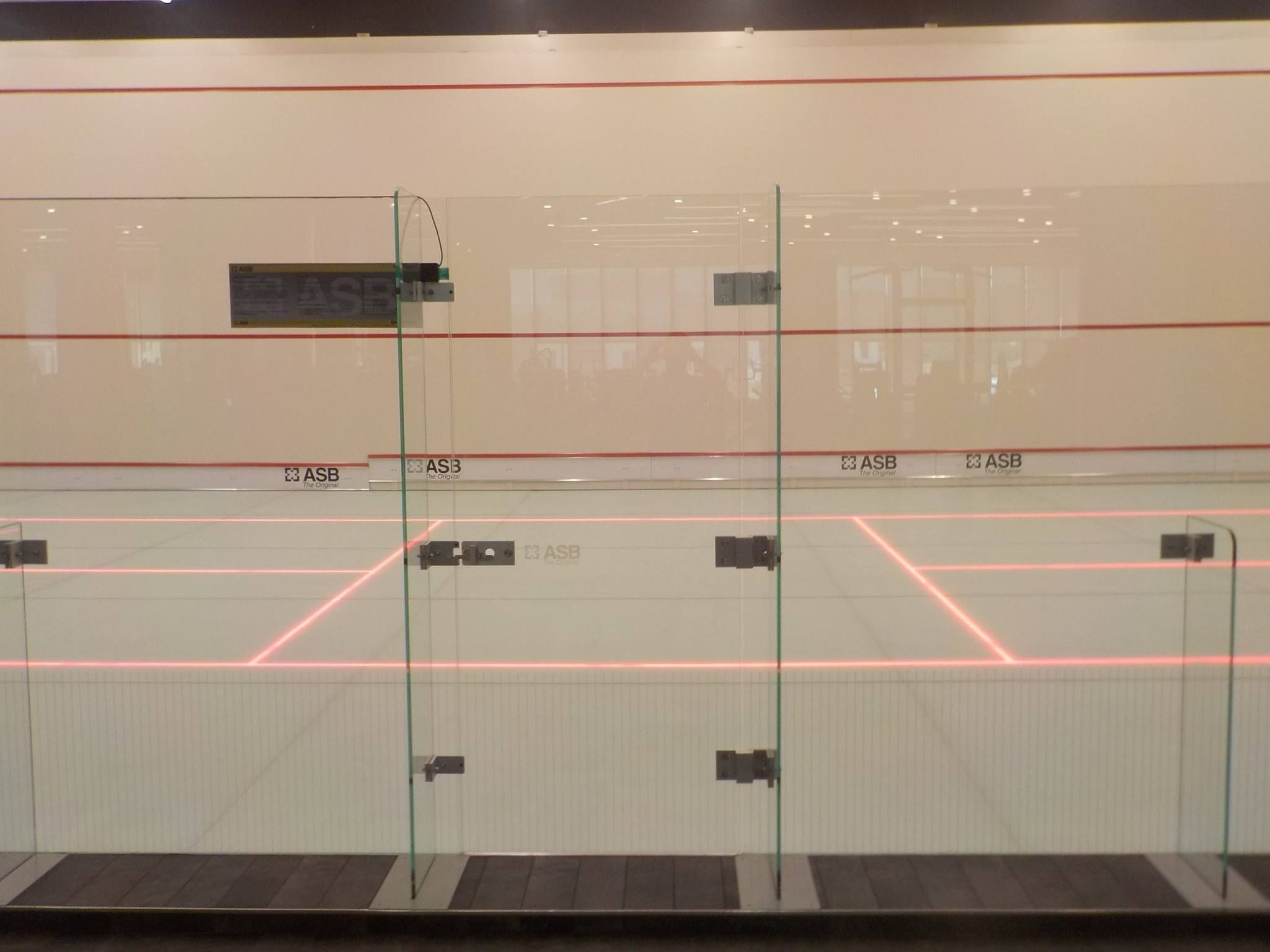 ASB Squash courts turned into Badminton field 1) move