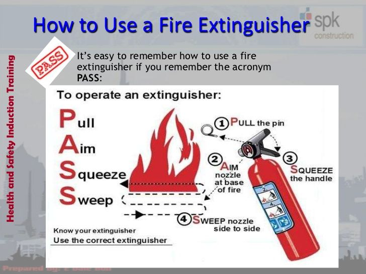 How to use a fire extinguisher its easy to remember how