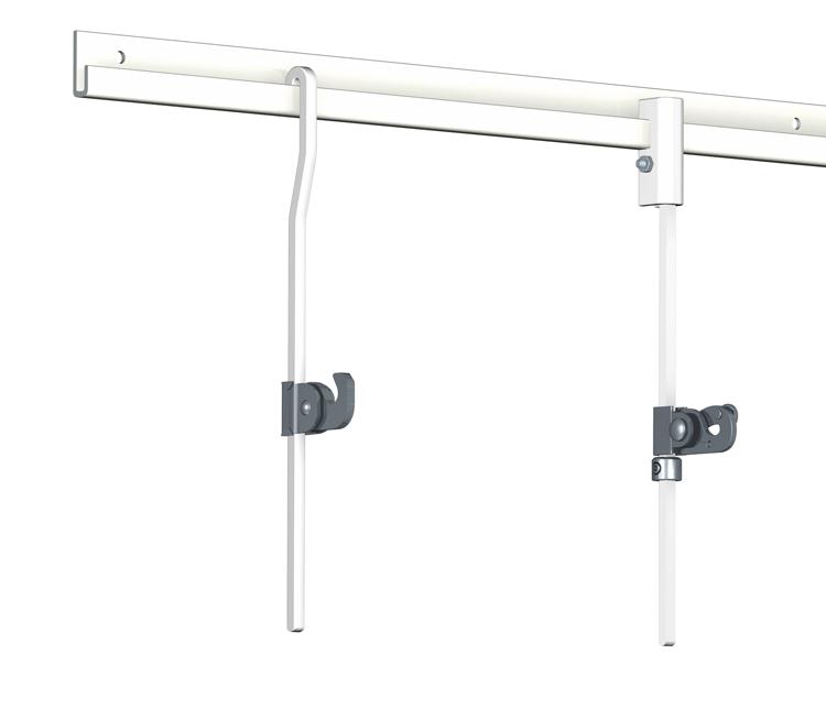 Rail cimaise classic artiteq pour tableau lourd un rail solide pour des accrochages costaud - Cimaises a tableaux ...
