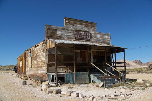 Rhyolite, Death Valley, Navada. Photo by D'oh Boy