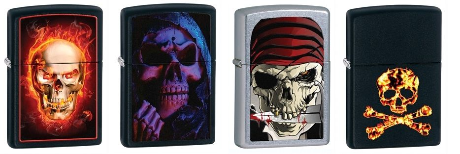 Zippo Lighters with Skulls - Skullspiration.com - skull ... Zippo Lighter Skull Designs