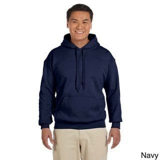 ANVIL Gildan Navy Blue Hoodie Blank Plain Lightweight Long Sleeve Hooded T-SHIRT