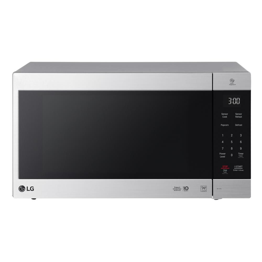 Lg Electronics Neochef 2 0 Cu Ft Countertop Microwave In Stainless Steel Lmc2075st The Home Depot Countertop Microwave Lg Microwave Stainless Steel Microwave