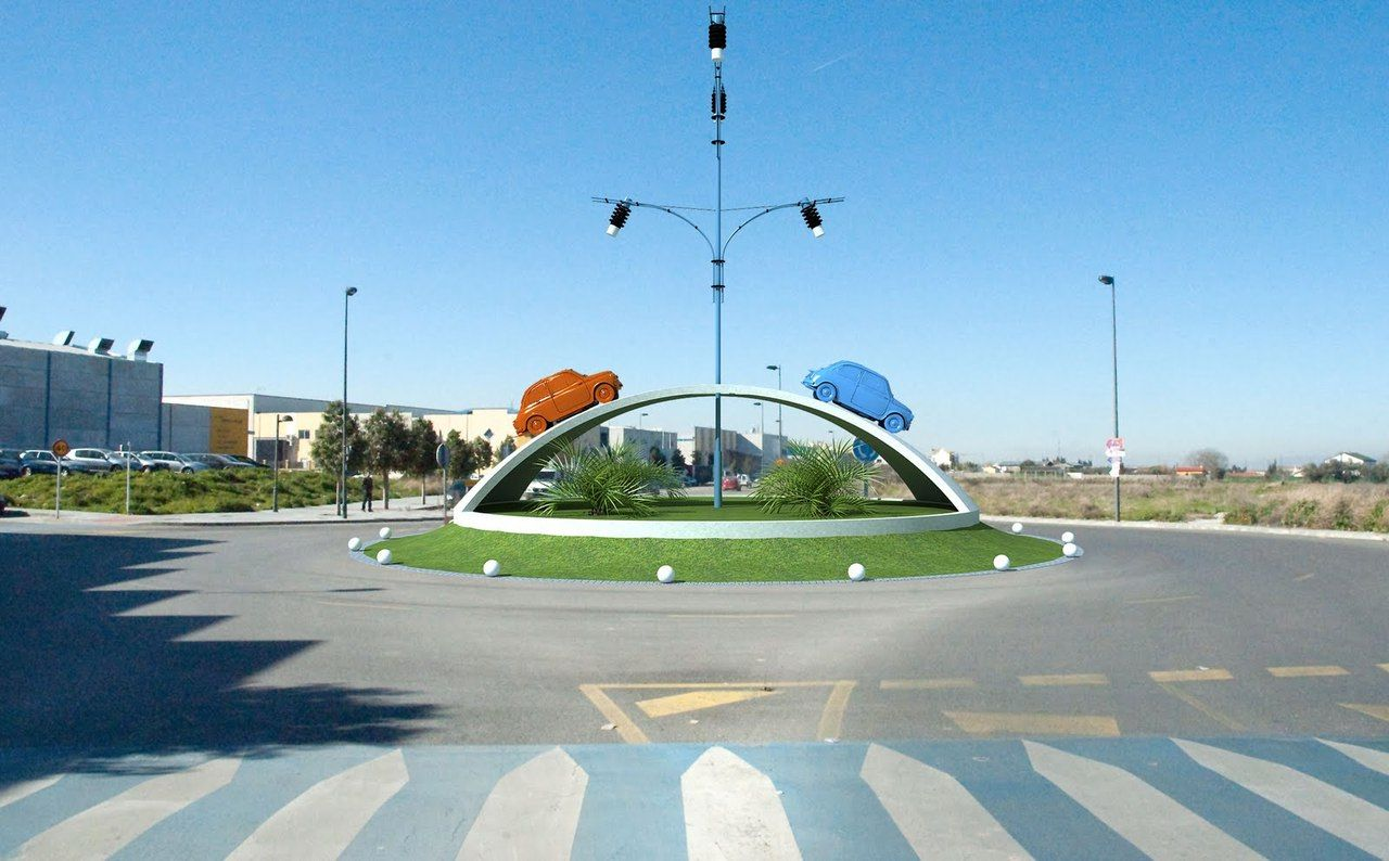 Rotonda Homenaje Al Seat 600 Churriana De La Vega Granada Churriana De La Vega Las Vegas España