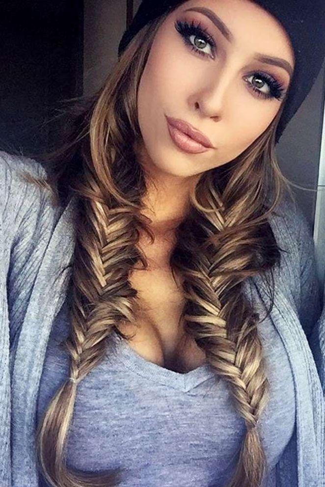 Cheveux long femme hiver 2018