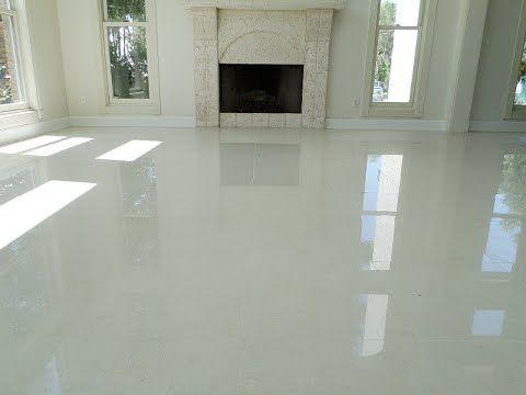 white polished porcelain tile