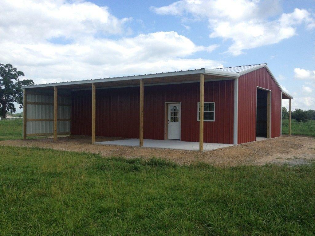 Custom Metal Building With Overhang