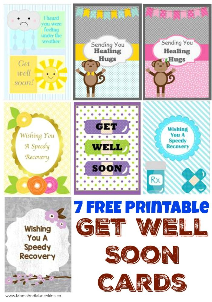 Free Printable Get Well Soon Cards Moms Munchkins Free Get Well Cards Printables Free Kids Get Well