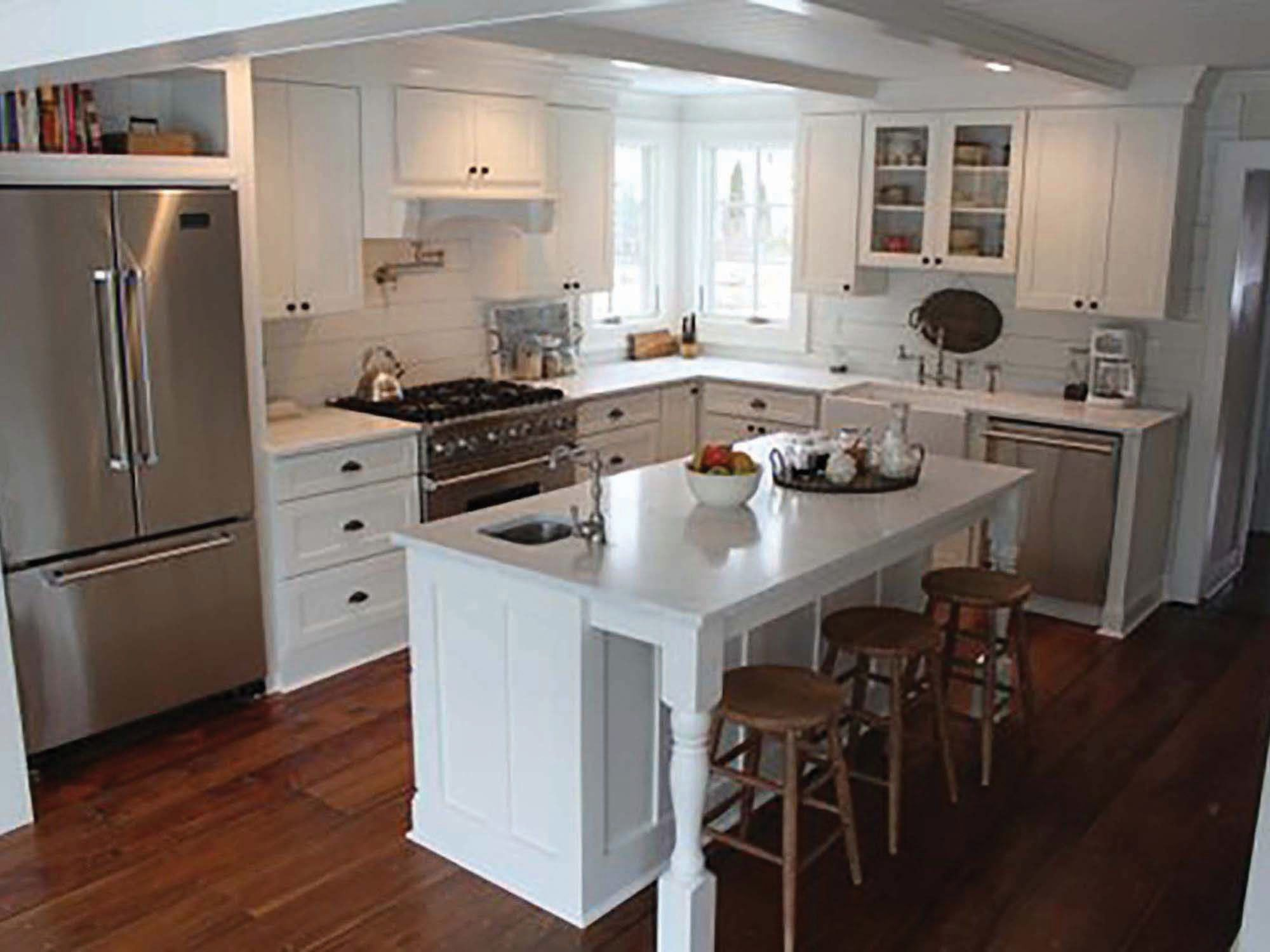 Guildord Connecticut Kitchen Renovation Features Cliqstudios Dayton Painted White Cabinets