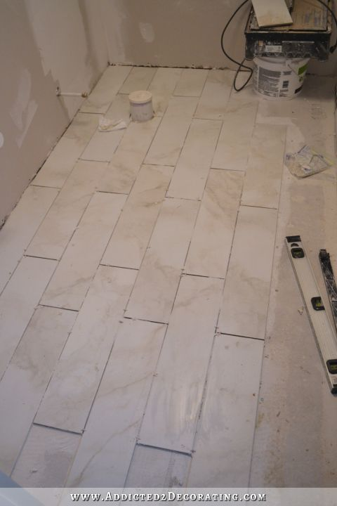 Tiled Bathroom Floor Progress (Plus A Few Tiling Tips)