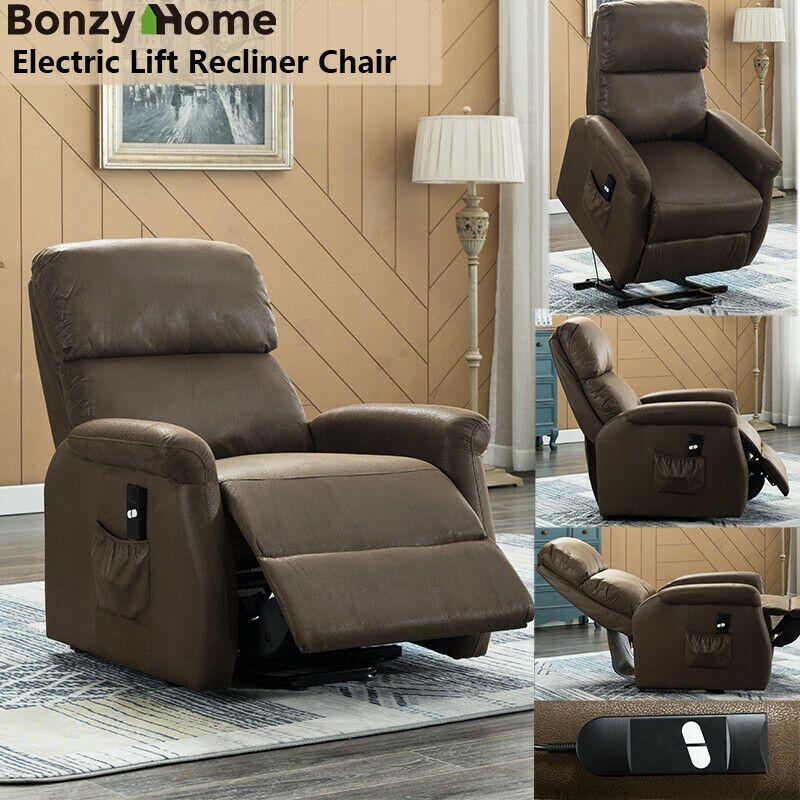 Lift Chair Electric Power Sofa Lounge Recliner Bedroom Overstuffed