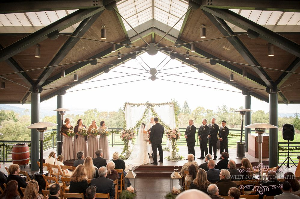 Wedding Another Wonderful Ceremony In The Pavilion Thomas Fogarty Winery