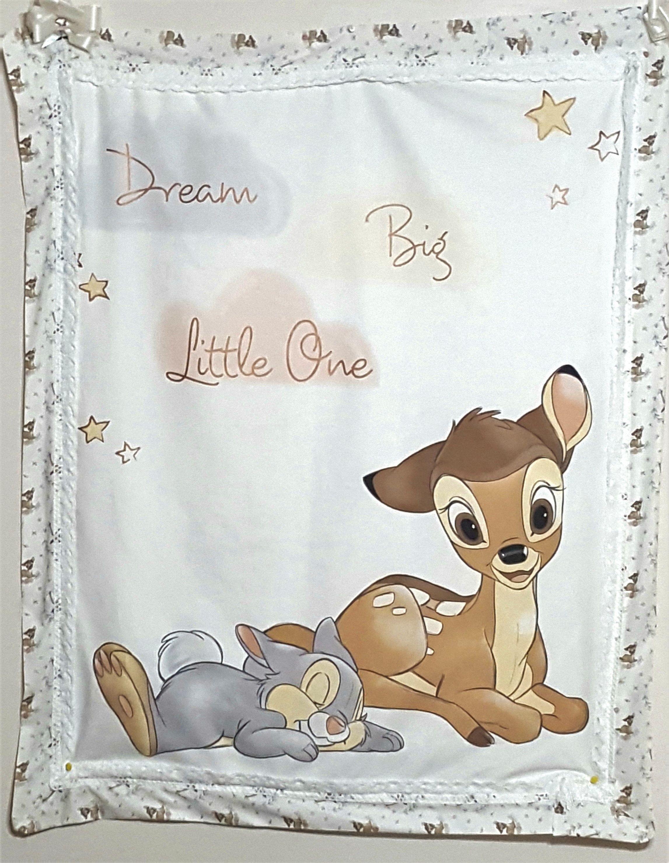 Thumper Blanket Unique Newborn Gift Baby Shower Personalised Soft Fleece Bambi