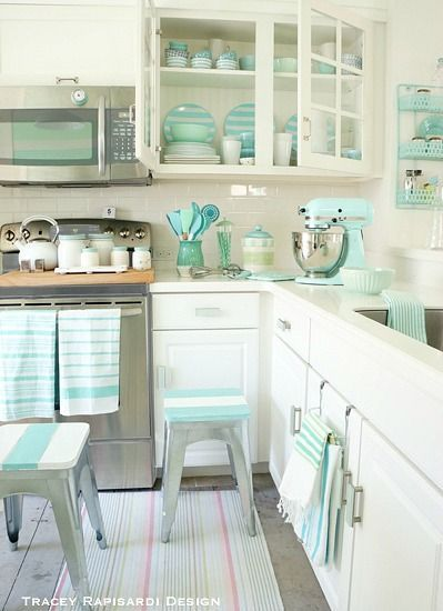 Heavenly Beach Cottage In Pastel By Tracey Rapisardi Home