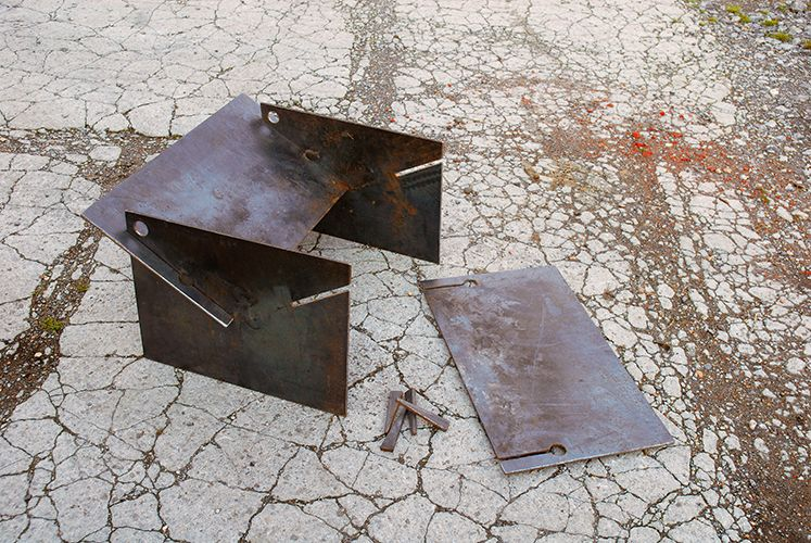 Photo of Tecton collapsible fire pit The fire pit you can take camping! Quickly assemble, locate the pegs and fire up the logs!