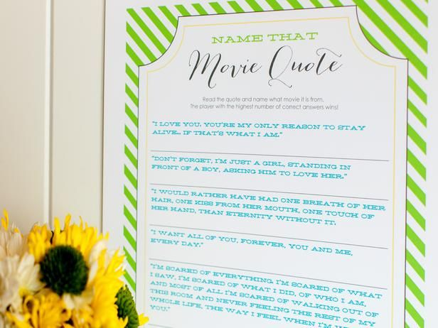 10 Wedding Shower Games And Activities Download Print The Game Worksheet Which Features Quotes