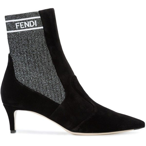 Fendi Leather Pointed-Toe Booties free shipping prices clearance huge surprise sale limited edition n4d9C