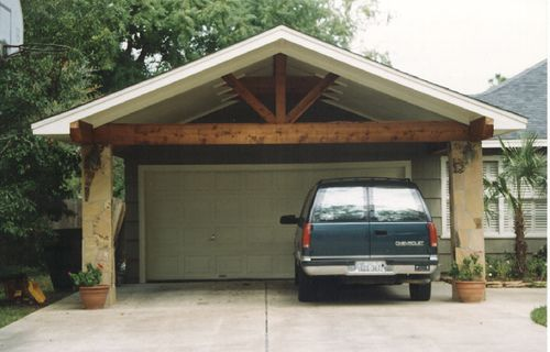 Carport columns bing images ron rons carports for Garage carport design ideas