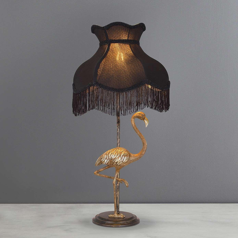 Tulisa Antique Brass Flamingo Table Lamp Dunelm Table Lamp Lamp Brass Table Lamps