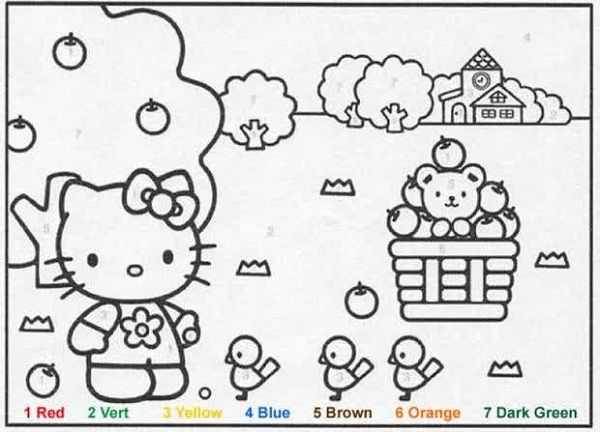 Hello Kitty Coloring Pages By Numbers Hello Kitty Colouring Pages Hello Kitty Coloring Super Coloring Pages