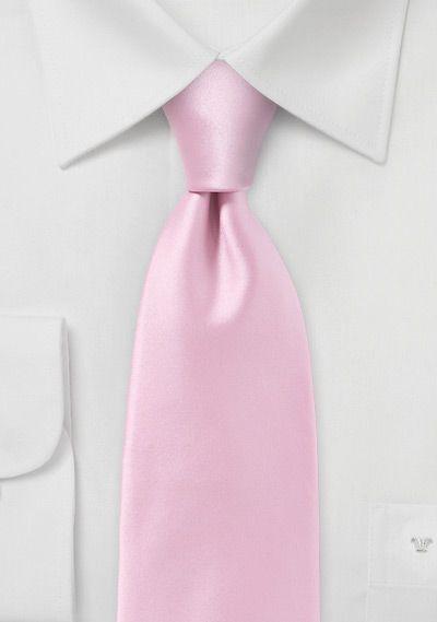 Modern Rose Petal Pink Tie in Narrow Cut