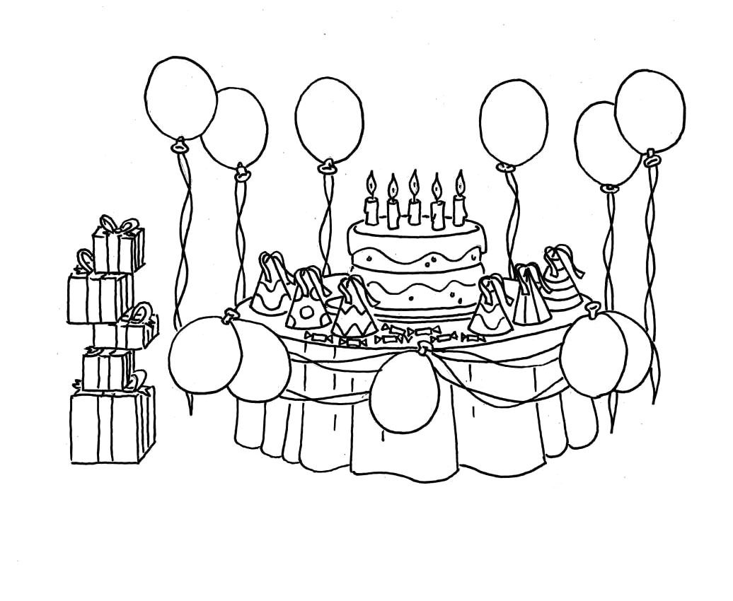 birthday party coloring pages - Bing Images | Coloriage ...