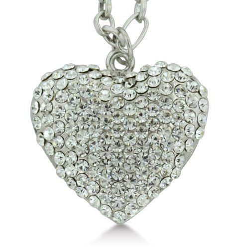 Dazzling Swarovski Crystal Heart Shaped Necklace SuperJeweler. $14.99. Save 63%!