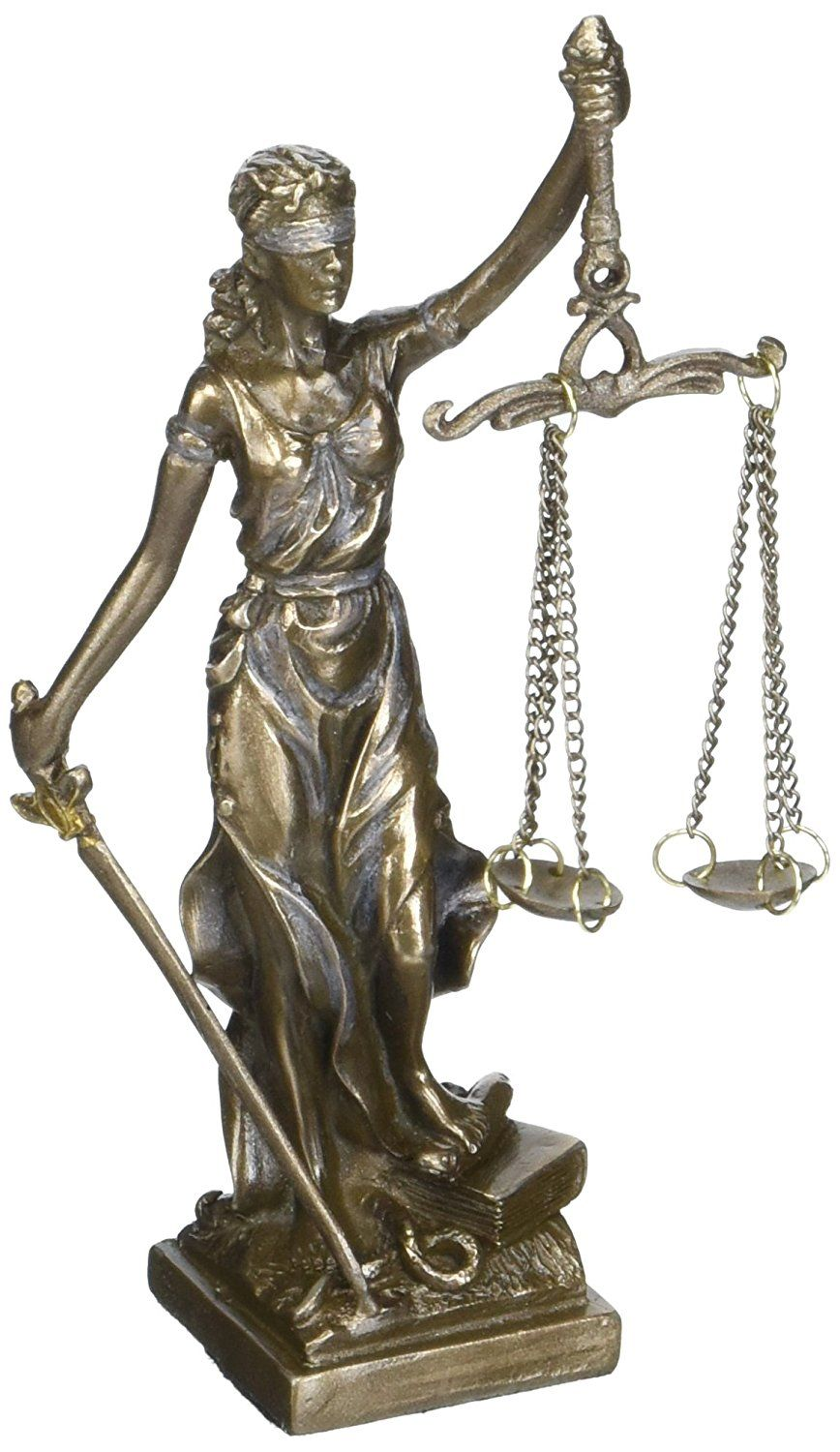 Amazon Com 9194 Small Lady Justice With Scales And Sword Statue Figurine 5 Quot Home Amp Kitchen Bronze Statue Statue Bronze