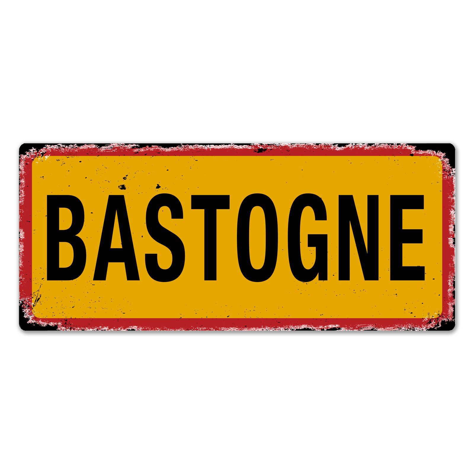 Wtf | Bastogne Ww2 Street Sign | Metal Wall Sign Plaque Art ...