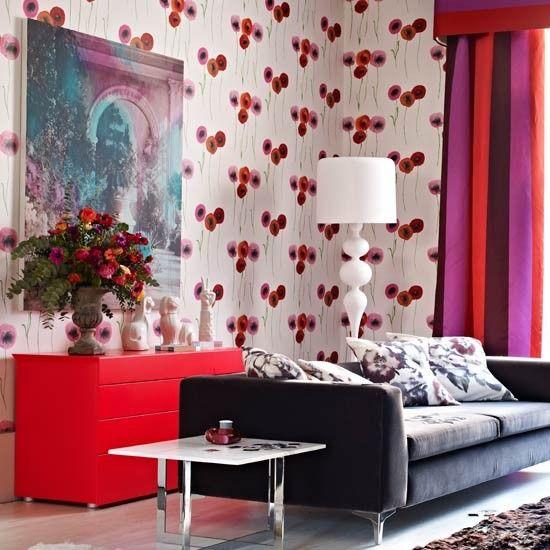 Modern pastel living room with Christmas tree | Decorating | housetohome.co.uk