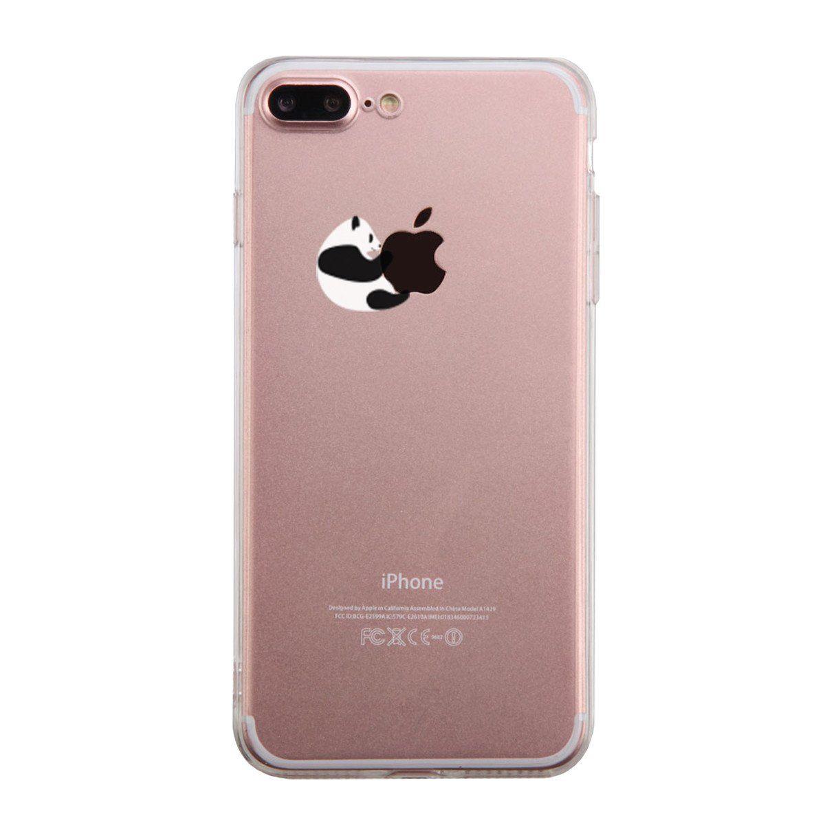 Panda Hugging Apple Phone Case Cute Clear Phonecase
