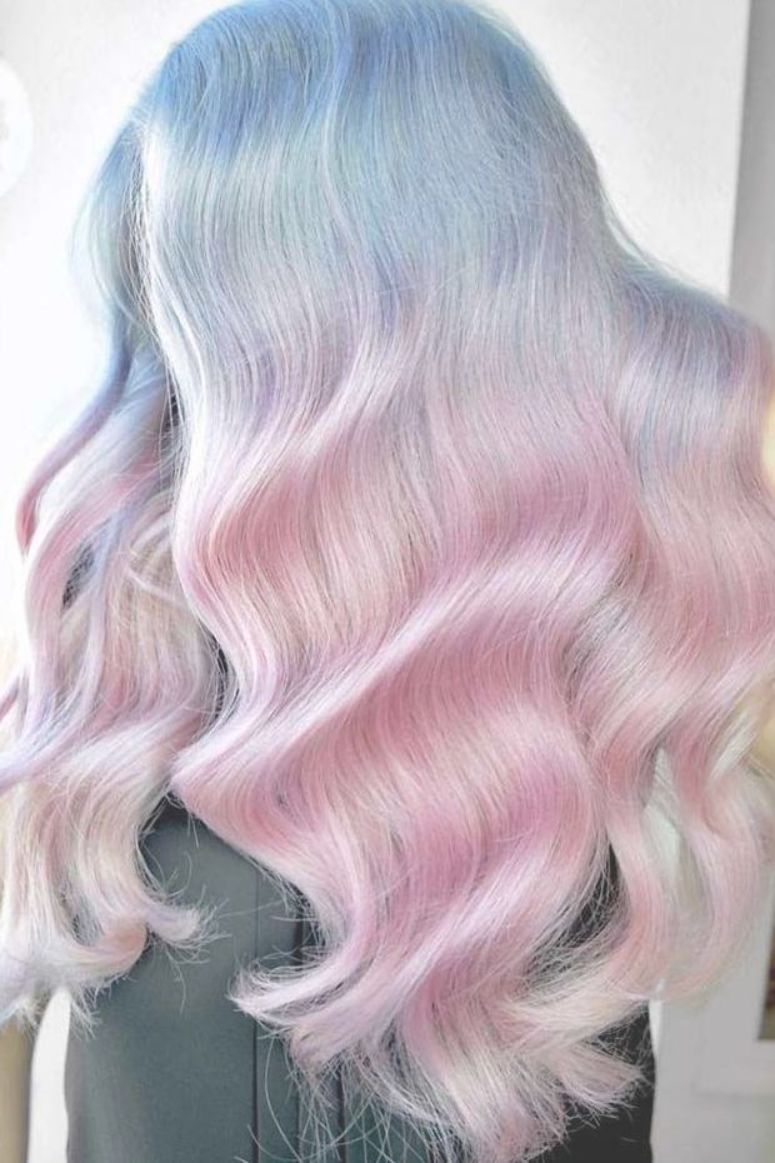 Pastel Pink And Blue Hair Ombre Pastelhair Bluehair Pastel Hair Colors Speak Not Only About The Rebellion Within Yo Cool Hair Color Hair Styles Dyed Hair