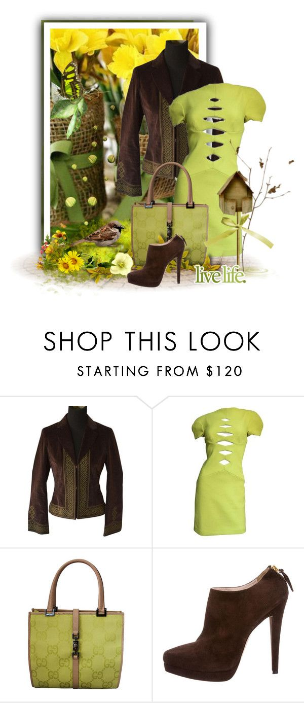 """Chocolate Mint Dreams"" by kmlvr9 ❤ liked on Polyvore featuring Tory Burch, Versace, Gucci and Miu Miu"